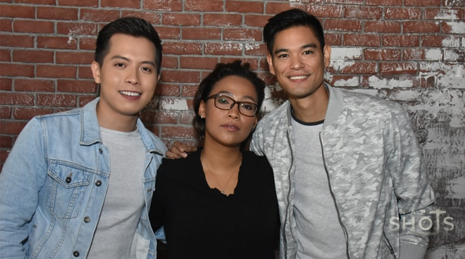 Jaya, Jay R and Jason Dy in a concert