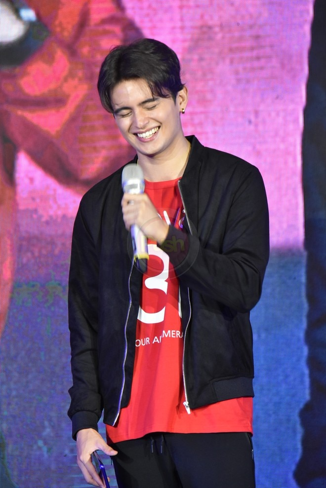 James was all smiles as he graced the media launch of Huawei Nova 3.