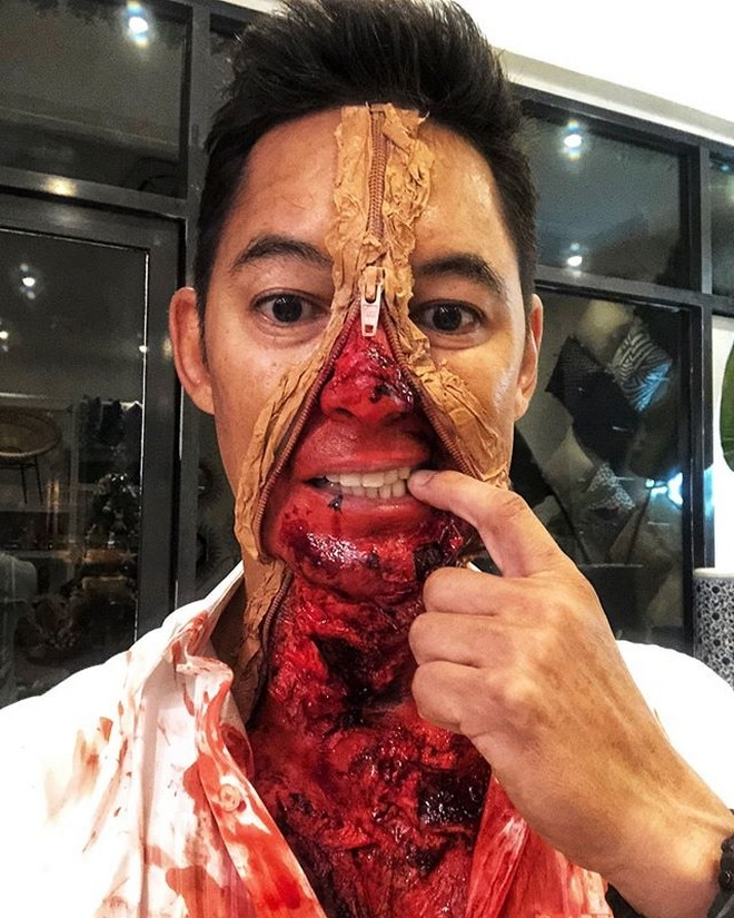 Marc Nelson as a zombie