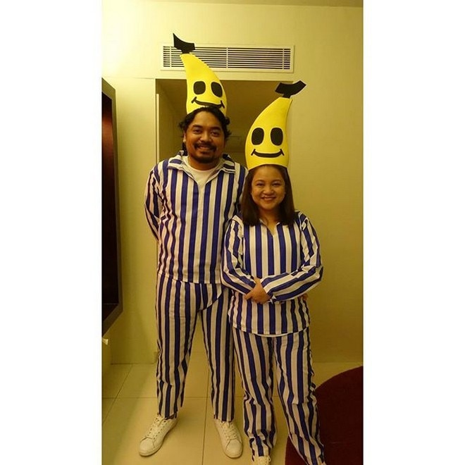 Directors Dan Villegas and Tonette Jadaone as Bananas in Pajamas