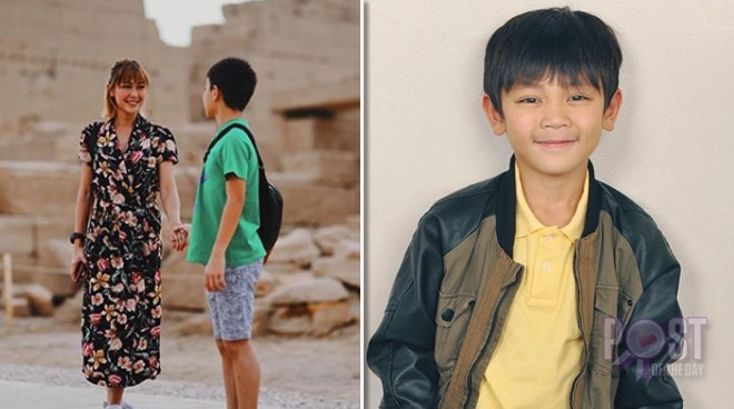 Jodi Sta. Maria goes on an Egyptian vacation with her son Thirdy