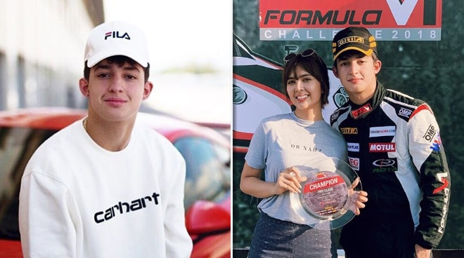 Is this Cebuano race car driver the boyfriend of Sofia Andres?