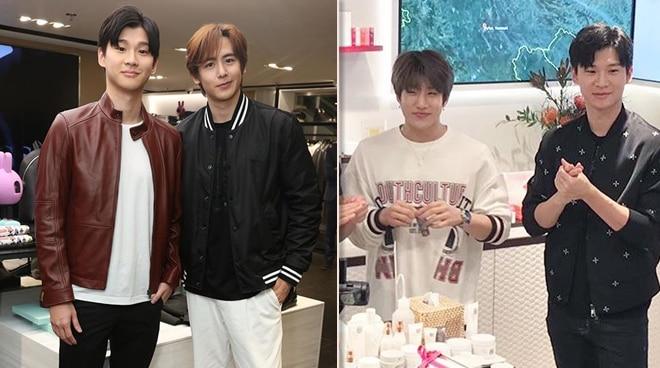 Richard Juan meets K-Pop artists Nichkhun of 2PM and Jinjin of ASTRO