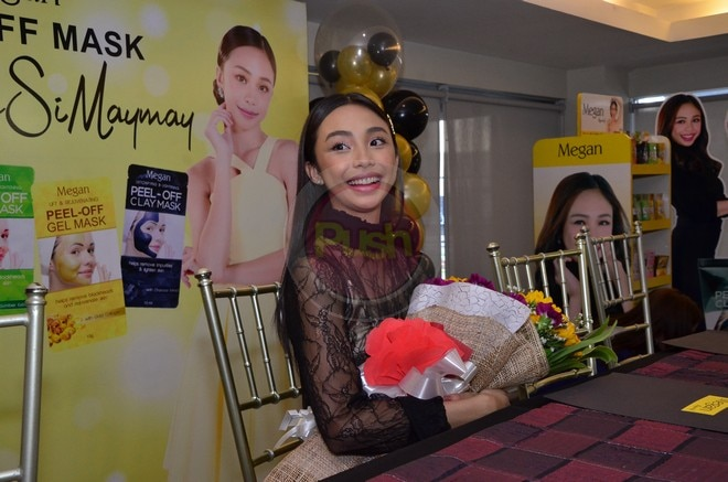 Maymay is the new face of Megan Peel-Off Mask.