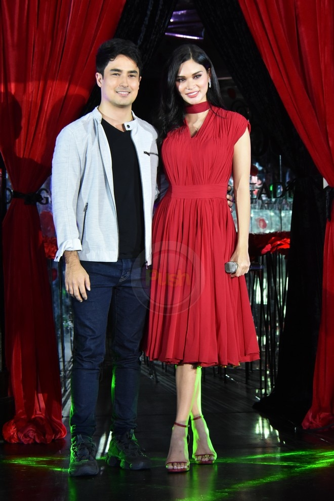 Pia Wurtzbach is joined by Marlon Stockinger at Downy Parfum Collection's event.