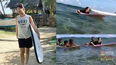 WATCH: Maja Salvador learns how to surf