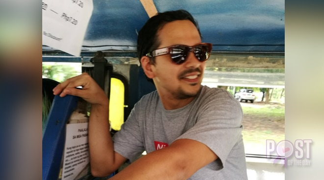 John Lloyd Cruz spotted in a jeepney in QC