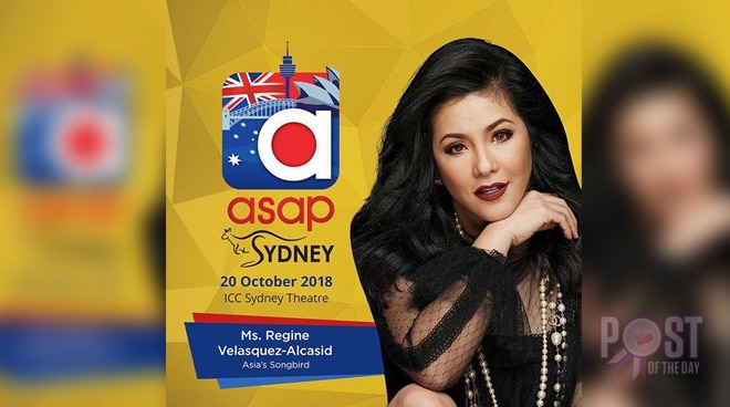 Regine Velasquez to join 'ASAP' in Australia