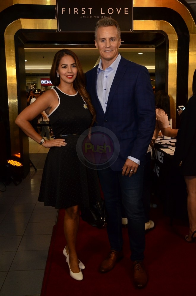 Patricia Javier and Robert Walcher at the First Love Movie Premiere last October 16.