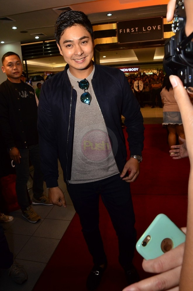 Coco Martin at the First Love Movie Premiere last October 16.
