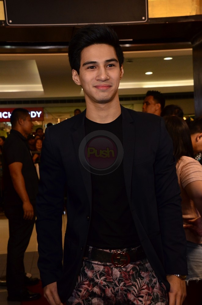 Albie Casiño at the First Love Movie Premiere last October 16.