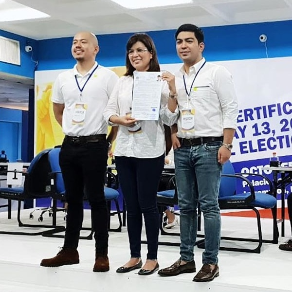 Lani, Jolo and Bryan Revilla filed the COC for Bong Revilla's senatorial bid.