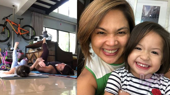 So cute! Judy Ann Santos' works out with her 2-year-old daughter