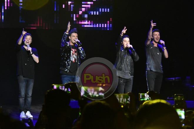 Inawit ng A1 ang kanilang iconic songs sa 20th anniversary reunion concert nila sa Kia Theater.