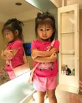 Athena, 1 y/o old daughter of Rufa Mae Quinto and Trevor Magallanes