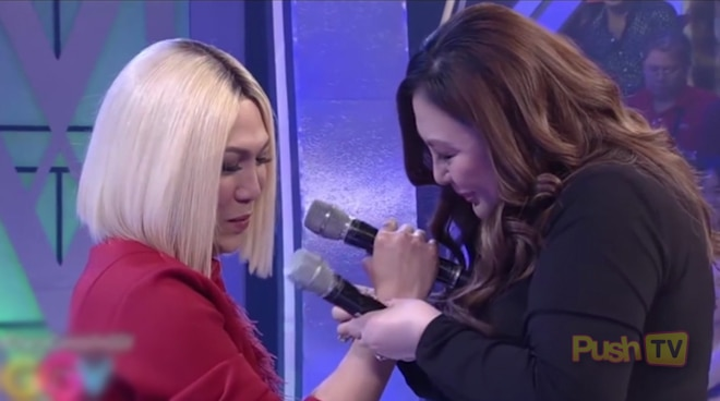 Push TV: Sharon Cuneta, binigyan ng mamahaling bracelet si Vice Ganda