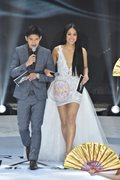 Gretchen hosted the show in a daring white dress. She co-hosted with ex-boyfriend Robi Domingo.
