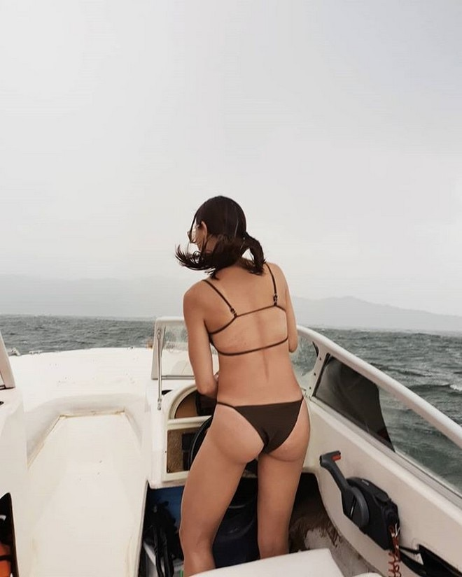 Rhian Ramos said she was driving into a storm in this photo.