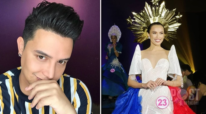 LOOK: Paolo Ballesteros designs Mutya ng Pilipinas candidate Agatha Lei Romero's gown