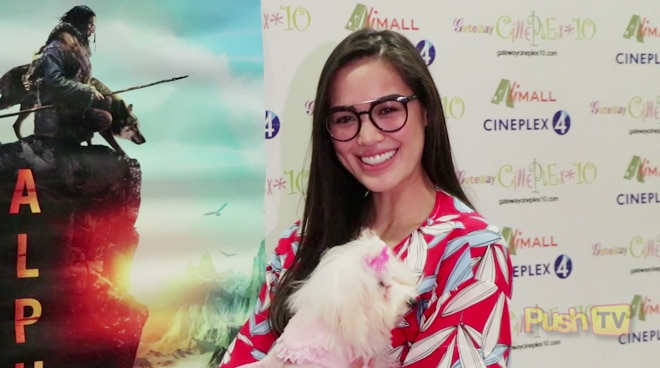 Michele Gumabao shows support for movie highlighting love for animals