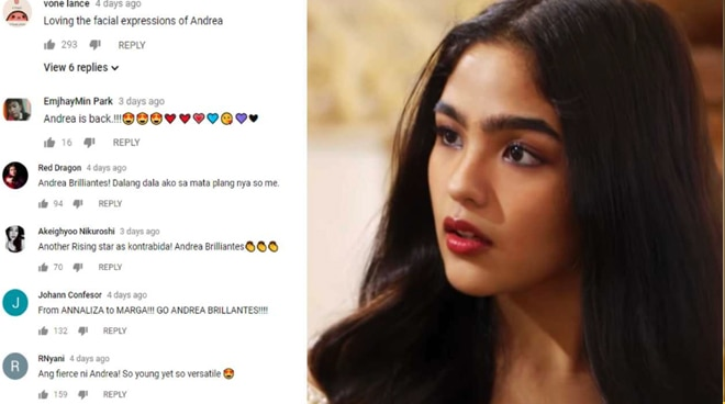 Andrea Brillantes' first kontrabida role surprise netizens