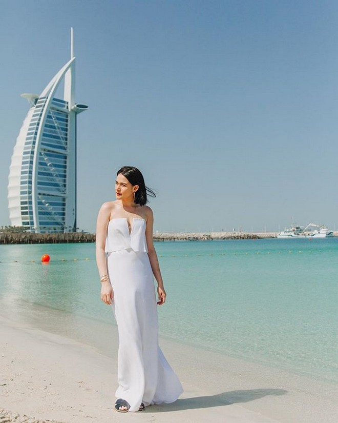 Bea Alonzo looked gorgeous in a traditional outfit that she wore in Dubai.