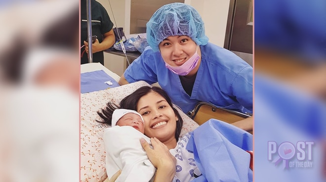 Shamcey Supsup gives birth to second child