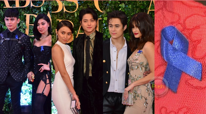 Here is the reason why the stars wore blue ribbons at the ABS-CBN Ball 2018
