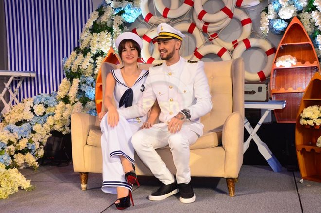 Billy and Coleen are very much in love with each other at Coleen's Despedida de Soltera