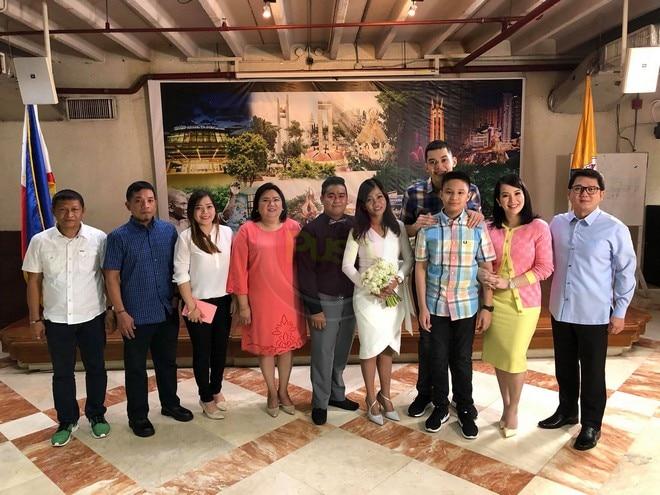 Herbert Bautista at Kris Aquino nagkitang muli sa kasal ng yaya ni Bimby