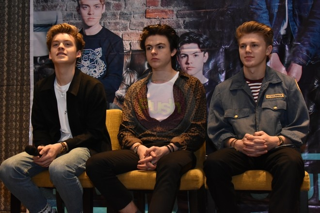 """British pop-rock band New Hope Club went to Manila to promote their EP """"Welcome to the Club""""."""