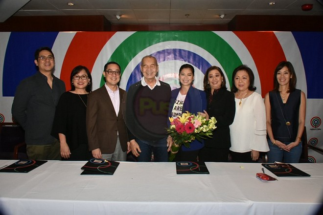 Angel renews contract with ABS-CBN.