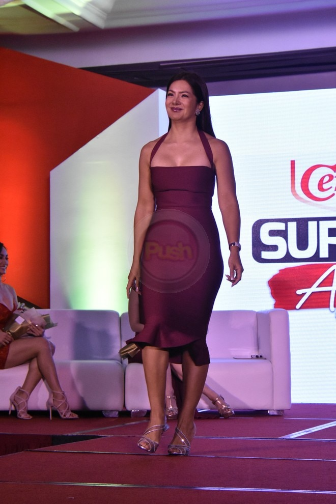 The actresses showed off their toned physique at the Century Tuna Superbods Ageless event.