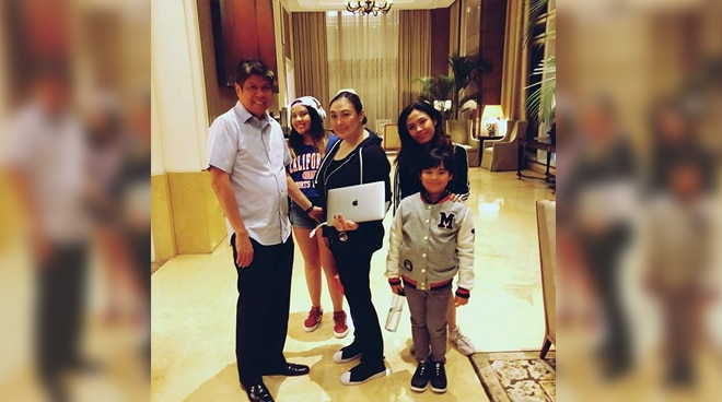 "Sharon Cuneta enjoyed quality time with family, ""When you suddenly find out that you're all gonna be"