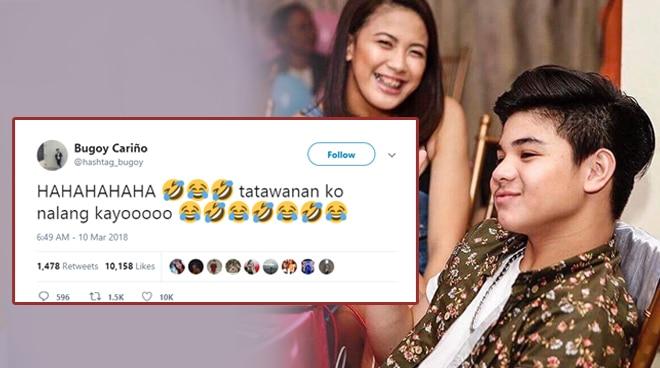 Are these Bugoy Cariño's reactions to rumors about him becoming a father?