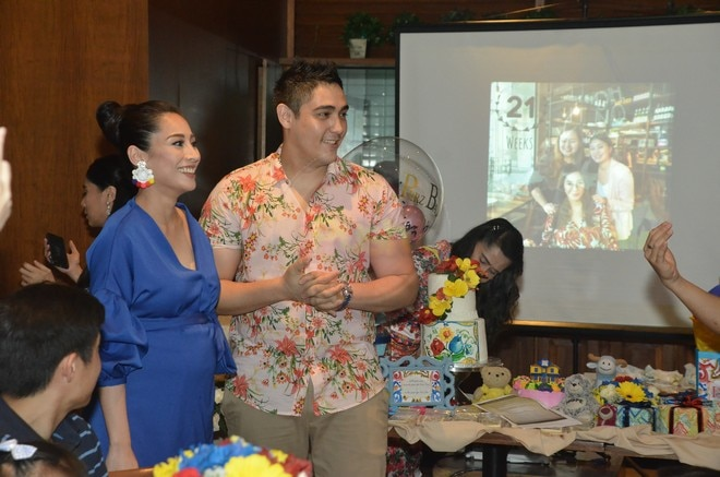 The couple revealed that they are having a baby girl. Congrats!