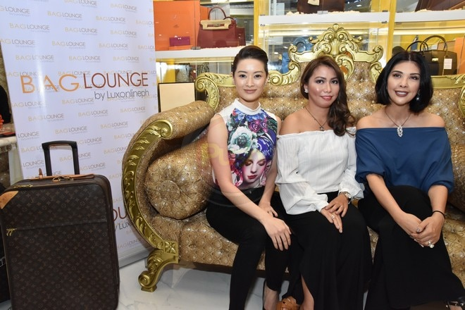Maricar Reyes and Pops Fernandez came to support the launch of Bag Lounge by Anna Magkawas
