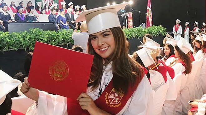 Alexa Ilacad is happy to graduate high school