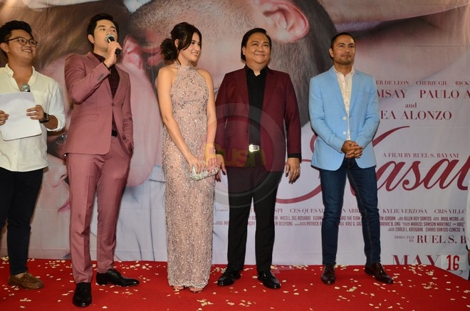 Celebrities showed support for the premiere of Kasal, starring Bea Alonzo, Derek Ramsay and Paulo Av