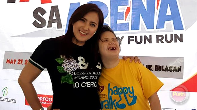 Ara Mina hold fun run for kids with Down syndrome