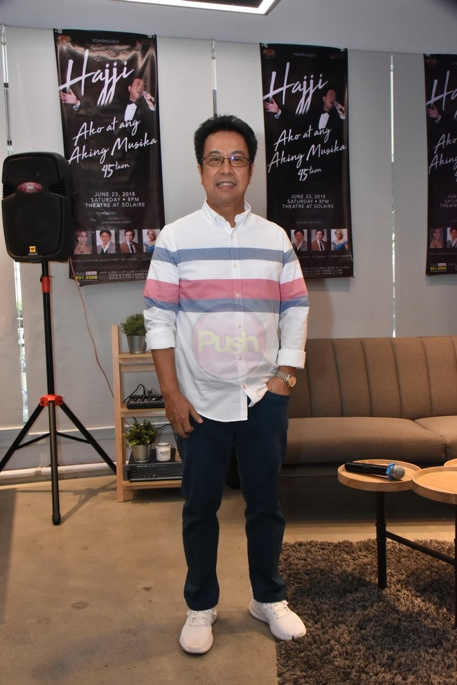 Hajji Alejandro's concert will be held at The Theater at Solaire on June 23, 2018.