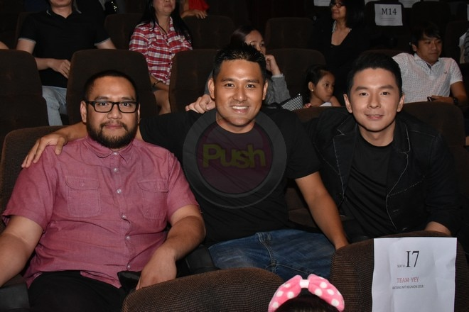 Junell Hernando, Marc Solis, Jason Salcedo & Jun Urbano attend Magic Temple's special screening.
