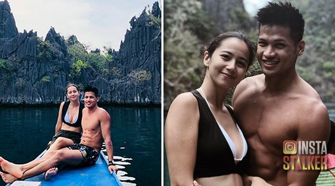 Kilig photos of Vin Abrenica and Sophie Albert that show they are meant to be