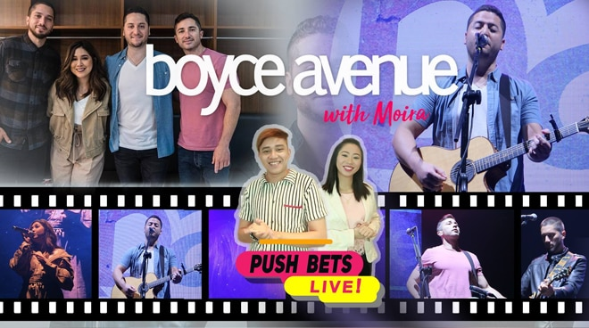 PUSH Bets LIVE ft. Boyce Avenue with Moira