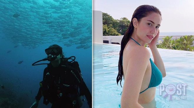 WATCH: Jessy Mendiola comes 'up close and personal' with a whale shark