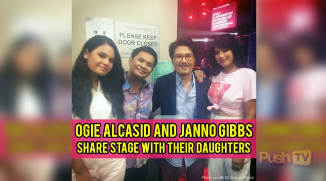 Push TV: Ogie Alcasid and Janno Gibs share stage with their daughters
