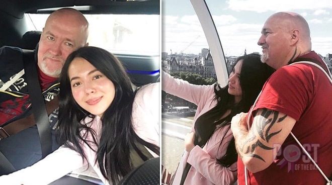 Julia Montes spends quality time with father in London