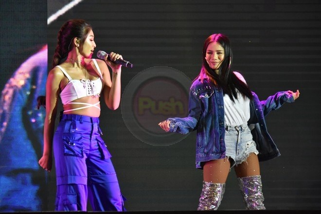 Nadine Lustre performed at the launch of Samsung Galaxy J6 smartphone.