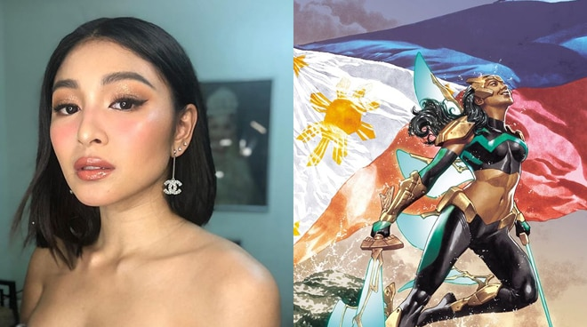 Nadine Lustre's face used as basis for a variant cover of Marvel's Pinay superhero Wave, illustrator confirms