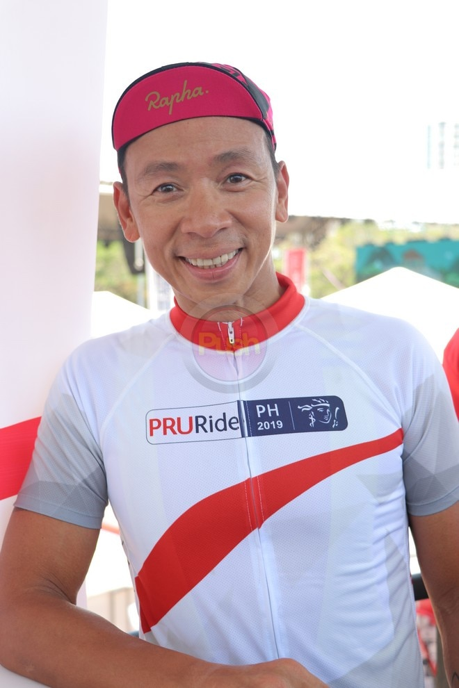 Kim Atienza and Zoren Legaspi joined PRU Ride PH 2019.